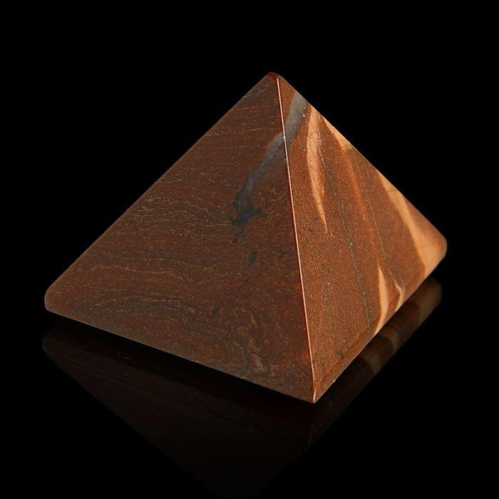 Пирамида из камня. Яшма Зебра от 38х33мм/80г: коробка