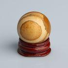 Шар из камня. Яшма узорчатая от 29мм/55г: подставка, коробка
