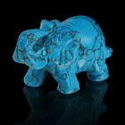 Фигурка слона от 48х32мм/38г, бирюза