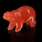 Фигурка медведя от 48х32мм/38г, оранжевый кварц