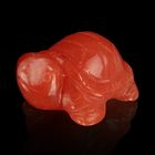 Фигурка черепахи от 49х32мм/48г, оранжевый кварц
