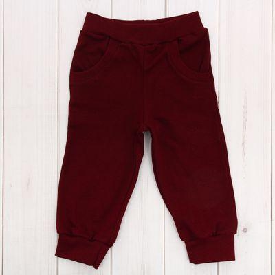 Брюки для мальчика, рост 92 см, цвет бордо Шт-1035-04_М