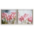 """Модульная картина в раме """"Тюльпаны"""", 33×66 см"""
