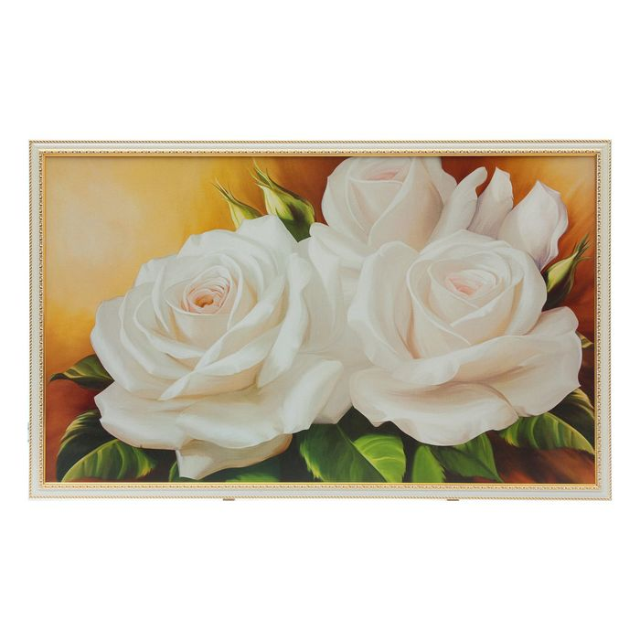 "Картина ""Белые розы"" 64х104 см"