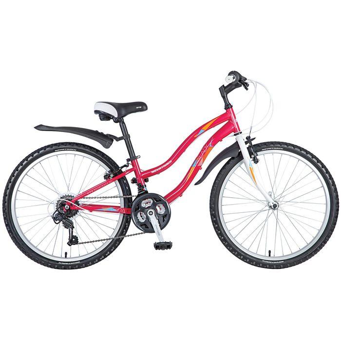 """Велосипед 24"""" Novatrack Lady, 2017, цвет красный, размер 12"""""""