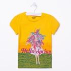 Футболка для девочки, рост 110 (60) см, цвет жёлтый
