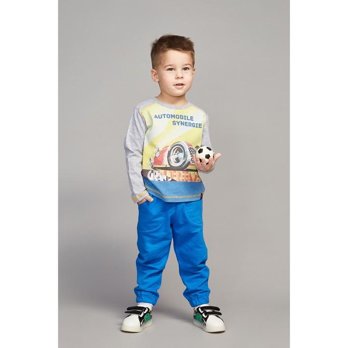 Лонгслив для мальчика, рост 122 (64) см, цвет серый меланж