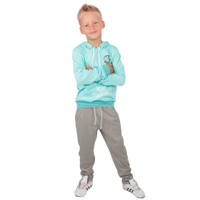 """Брюки для мальчика """"Майами"""", рост 122 см (62), цвет бежевый, принт сёрф"""