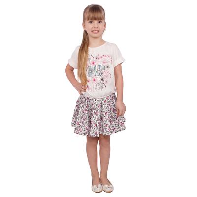 """Юбка """"Новая Алиса"""", рост 104 см (54), цвет розовый, принт цветы"""