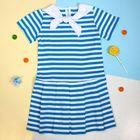 """Платье """"Каникулы"""", рост 98 см (52), цвет бирюзовый, принт полоска  ДПК437005"""