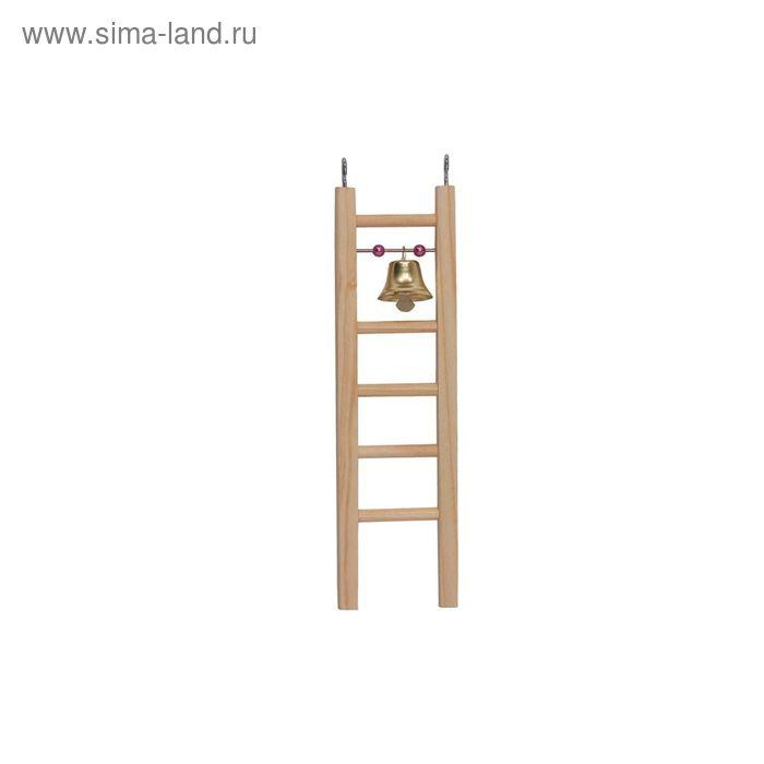 Лесенка деревянная RP8578, малая с бусами и колокольчиком