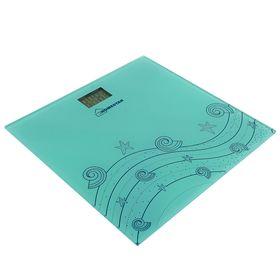 Весы напольные HOMESTAR HS-6001B, электронные, до 180 кг, голубые