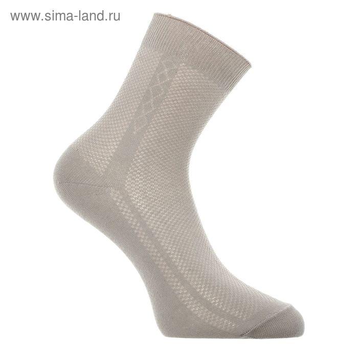Носки мужские,w410, серо-беж, р-р 27