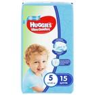 Подгузники Ультра-Комфорт Convenience Pack для мальчиков, размер 5, 12-22 кг, 15 шт