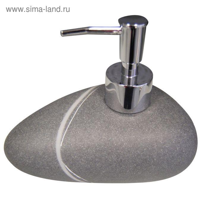 Дозатор для жидкого мыла Little Rock, цвет серый
