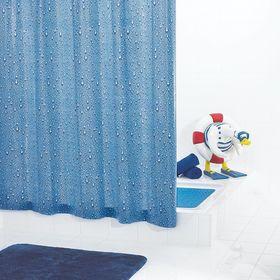 Штора для ванных комнат Drops, цвет синий