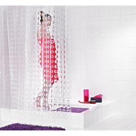 Штора для ванных комнат Loupe полупрозрачный