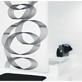 Штора для ванных комнат Loop, цвет черный