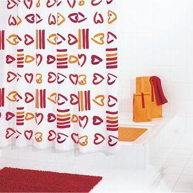 Штора для ванных комнат Lovely, цвет красный