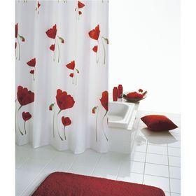 Штора для ванных комнат Mohn, цвет красный
