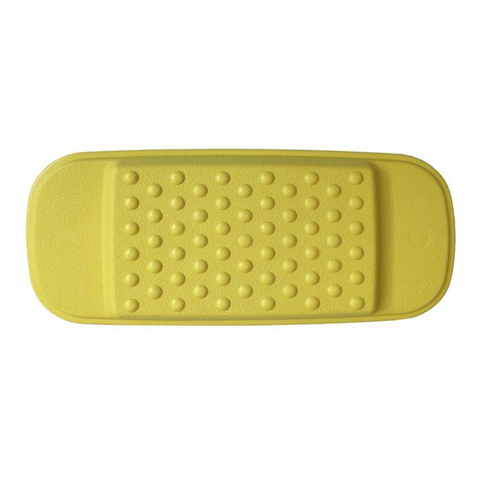 Подголовник для ванны, цвет желтый