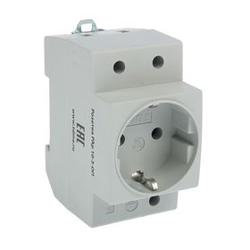 TDM RA10-3-OP socket, 16 A, on a DIN rail, with grounding, SQ0209-0001.