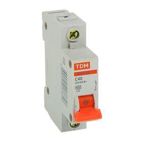Выключатель автоматический TDM ВА47-63, 1п, 40 А, 4.5 кА Ош