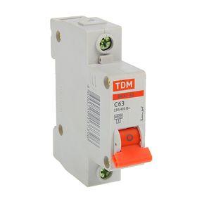 Выключатель автоматический TDM ВА47-63, 1п, 63 А, 4.5 кА Ош