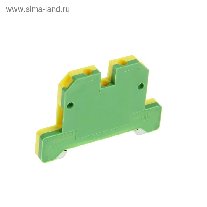 Зажим наборный TDM ЗНИ-2.5PEN, 2.5 мм2, земля, SQ0803-0031
