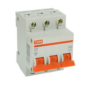 Automatic switch TDM VA47-63, 3p, 16 A, 4.5 kA.