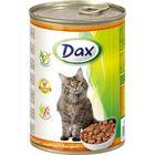 Влажный корм DAX для кошек, кусочки в соусе с птицей, ж/б, 415 г.