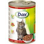Влажный корм DAX для кошек, кусочки в соусе с говядиной, ж/б, 415 г.