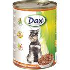 Влажный корм DAX для собак, кусочки в соусе с птицей, ж/б, 415 г.