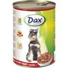 Влажный корм DAX для собак, кусочки в соусе с говядиной, ж/б, 415 г.