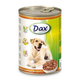 Влажный корм DAX для собак, кусочки в соусе с птицей, ж/б, 1240 г.