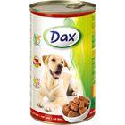 Влажный корм DAX для собак, кусочки в соусе с говядиной, ж/б, 1240 г.