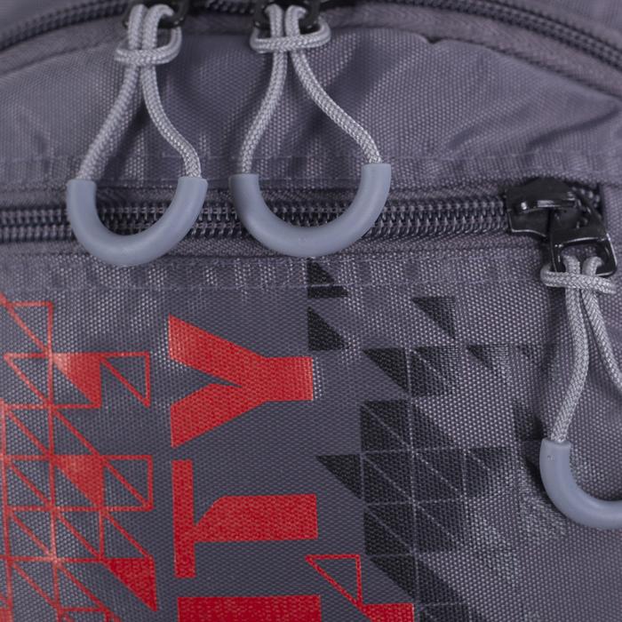Рюкзак школьный, 2 отдела на молниях, наружный карман, цвет серый/красный - фото 418357253