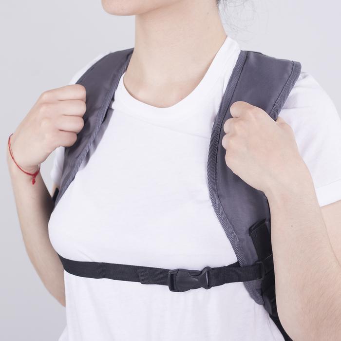 Рюкзак школьный, 2 отдела на молниях, наружный карман, цвет серый/красный - фото 418357254