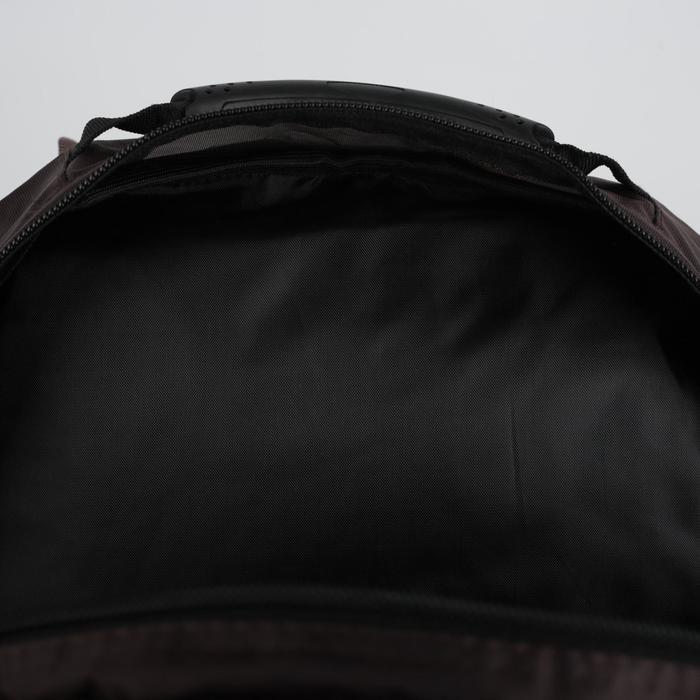 Рюкзак школьный, 2 отдела на молниях, наружный карман, цвет коричневый/зелёный - фото 404533401