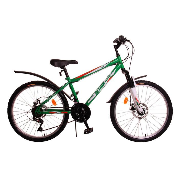 """Велосипед 24"""" Altair MTB HT disc , 2017, цвет зеленый, размер 14"""""""