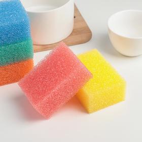 Набор губок кухонных для деликатных поверхностей и тефлоновой посуды, 10×6,5×4 см, 5 шт