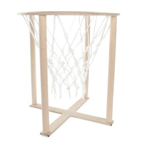 The outdoor basketball basket with net