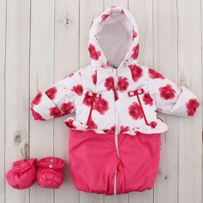 Трансформер для девочки, рост 68 см, цвет розовый, принт розовые розы