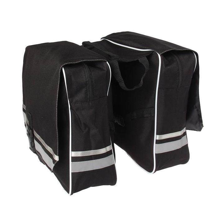 Велосумка на багажник Acoola, цвет чёрный