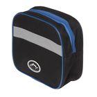 Велосумка на руль Acoola, горизонтальная, цвет чёрный/синий