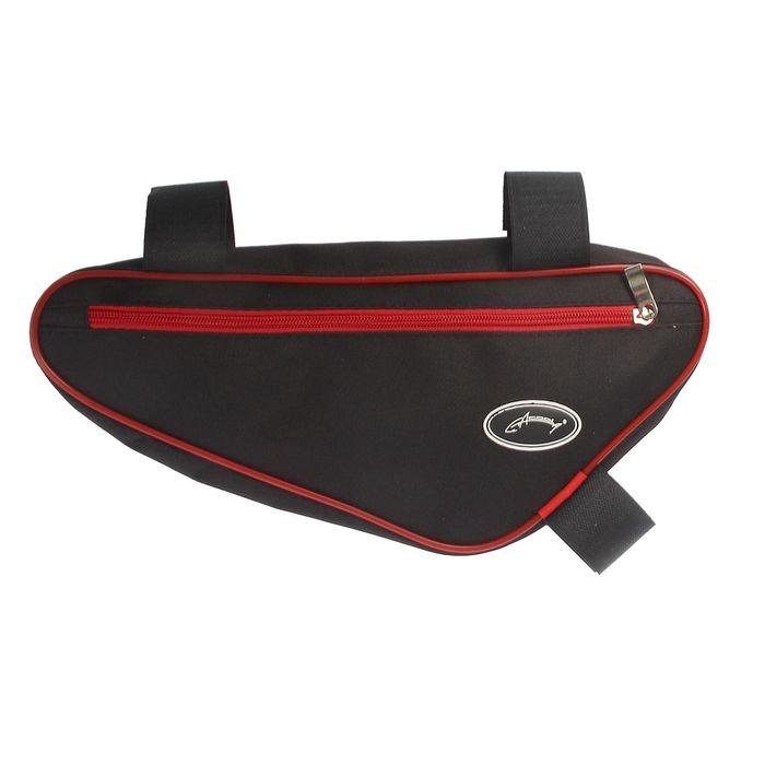 Велосумка под раму Acoola, передний треугольник, цвет чёрный/красный