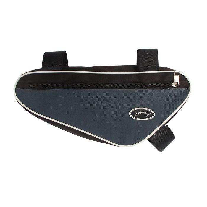 Велосумка под раму Acoola, передний треугольник, цвет чёрный/графит