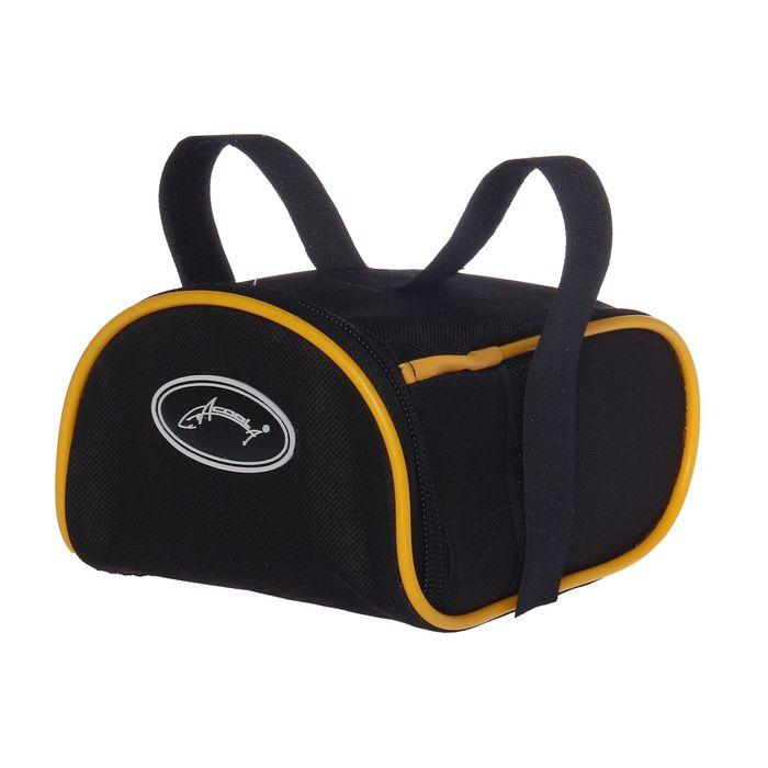 Велосумка под седло Acoola, цвет чёрный/жёлтый
