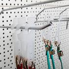 Крючок пластиковый с креплением L=13.7, (фасовка 50 шт), цвет белый
