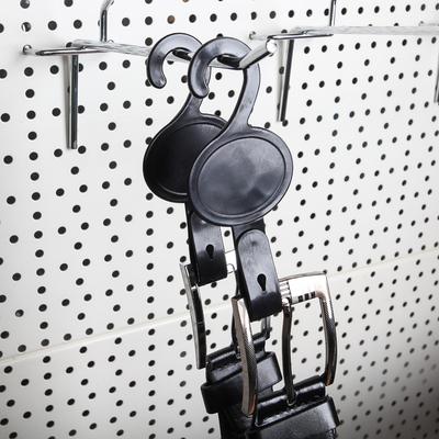 Крючок пластиковый с креплением 15*5, (фасовка 50 шт), цвет чёрный